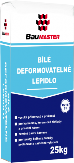Bílé deformovatelné lepidlo C2TE S1