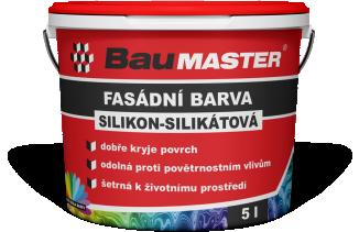Silikon-silikátová fasádní barva