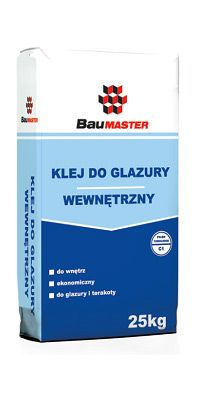 Glazed tile adhesive, for indoor use