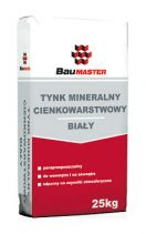 Thin layer mineral plaster