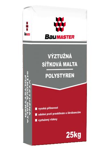 Výztužná síťková malta – polystyren